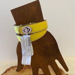 COACH Leather Double Wrap Turnlock Bracelet NWT